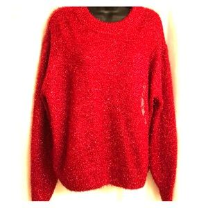 H&M Red Sparkly Sweater